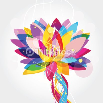 Multicolored Lotus Flower Graphic Vector Art Thinkstock