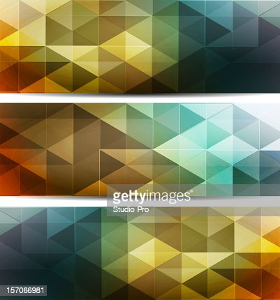 Multicolored mosaic banners : Vector Art