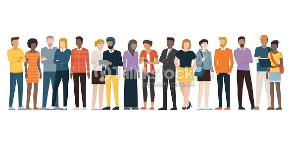 人の民族グループ : ベクトルアート