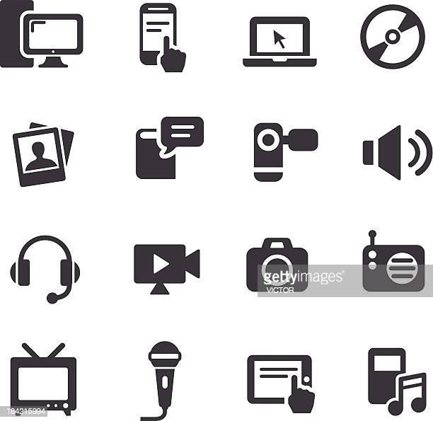 Un équipement multimédia et icônes-Série Acme