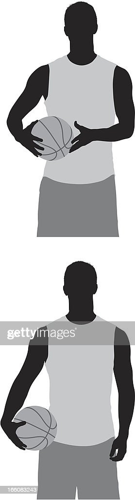 Multiple images of a basketball player : Vector Art