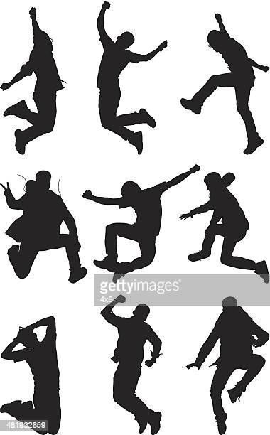 Multiple images of a man jumping