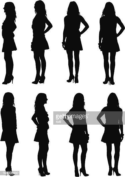 Multiple images of a woman posing