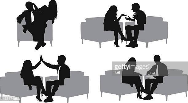Multiple images of business couples
