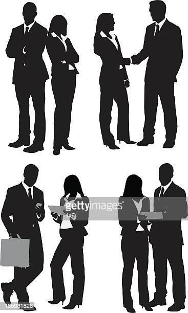 Mehrere Bilder von Geschäftsleuten