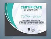 Multipurpose Modern Professional Certificate Template Design for Print. Vector illustration