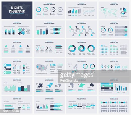 Multipurpose presentation vector template infographic. : Vector Art