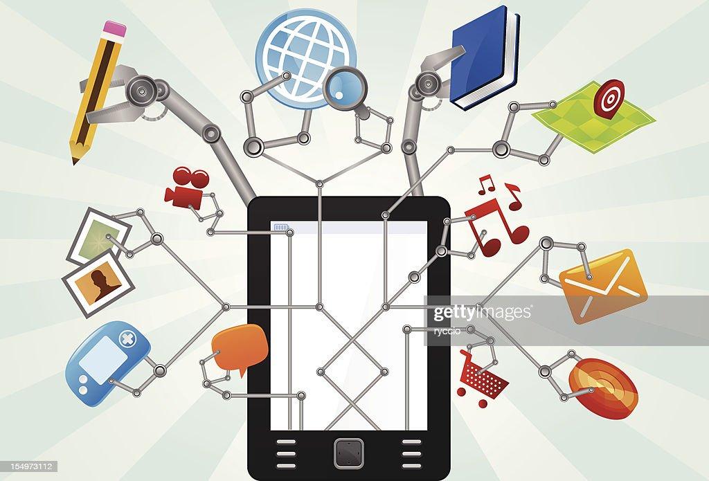 Multitask tablet : Vector Art