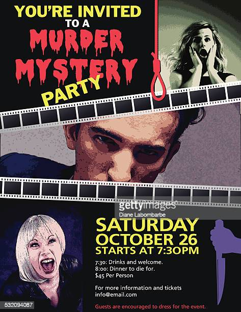 Murder Mystery Dinner Invitation