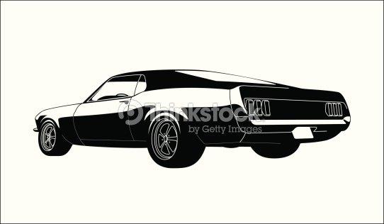 Muscle Car Vector Art Thinkstock