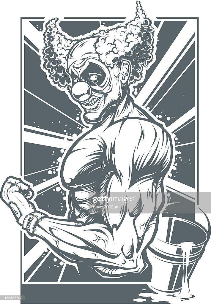 Muscle Clown : Vector Art