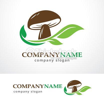 mushroom farm symbol template design vector emblem design concept