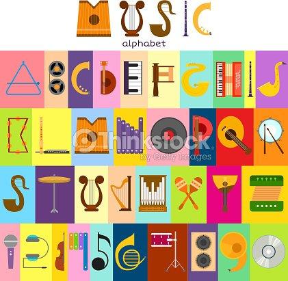 Music Alphabet Font Text Symbols Musical Instrument Decorative