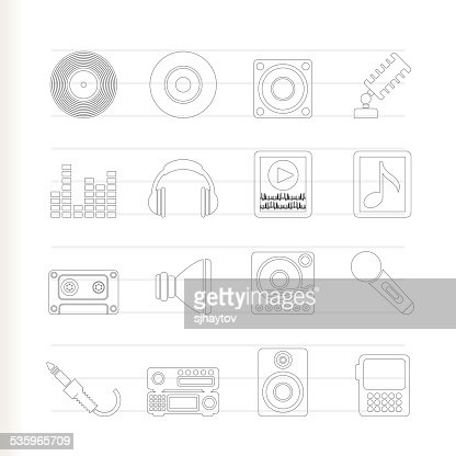 Music and sound icons : Vector Art
