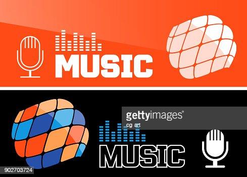 Music banner or flyer design : Arte vettoriale