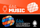 Music banner or flyer design. Vector illustration