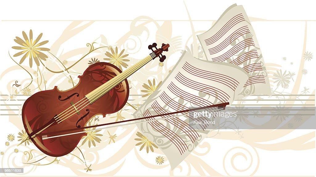 music charm  -  violin : Vector Art