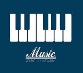 music design over blue background vector illustration