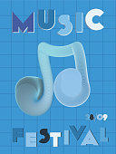 Music cover in indigo, blue, white colors. School concert flyer. Minimal line brochure. Amplitude layout. Vibration audio cover. Creative party advertise. Vintage wave template.
