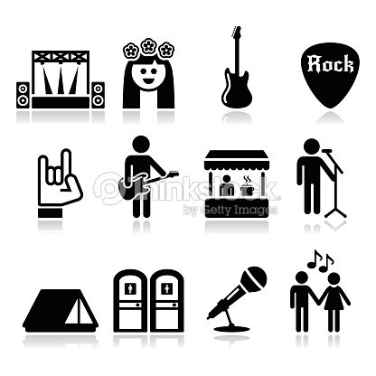 Music Festival Live Concert Vector Icons Set Vector Art Thinkstock