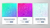 Music Flyer Concepts. Vector Illustration of Outline Web Banner Design.