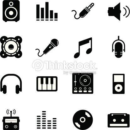 Set di icone musica arte vettoriale thinkstock - Specchi riflessi karaoke ...