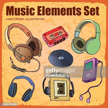 Music Icon set : Vector Art