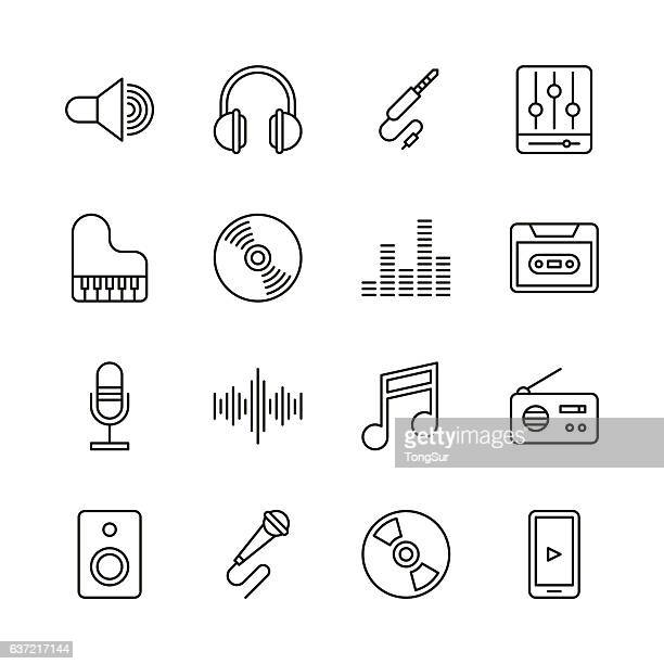 Music icons - Line Series