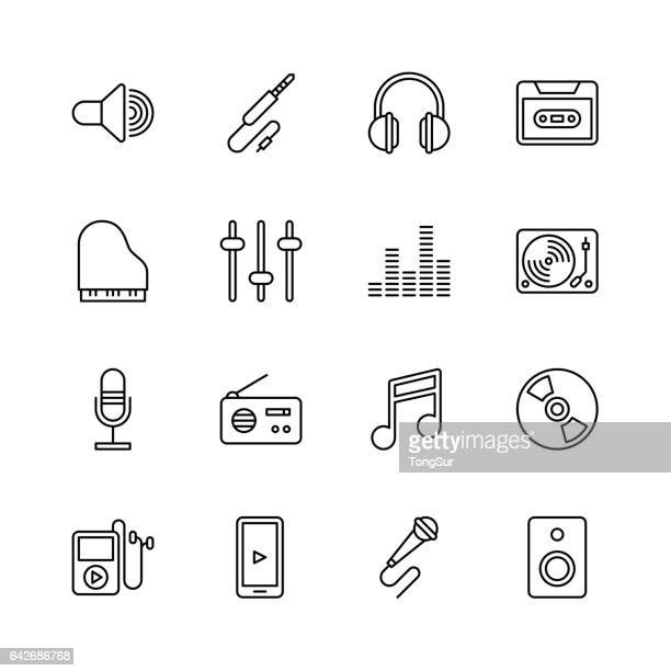Music icons - line