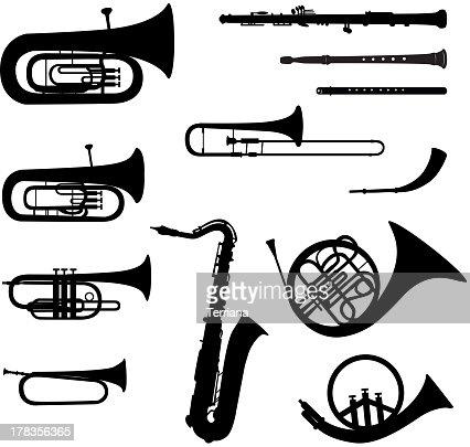 Marching Band Clipart Clarinet Musik Instrumente Vekt...