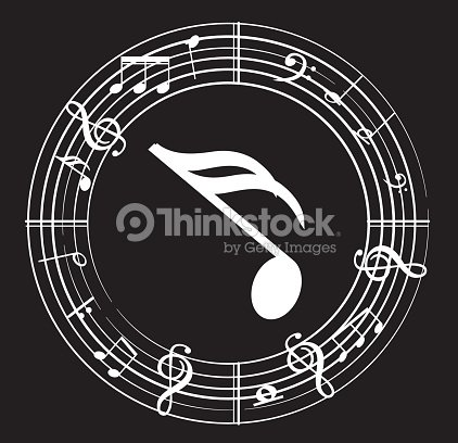 Music Note Background With Music Symbols Vector Art Thinkstock
