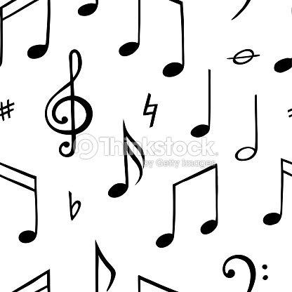 Modèle Sans Soudure De Note De Musique Illustration De Noir Et Blanc