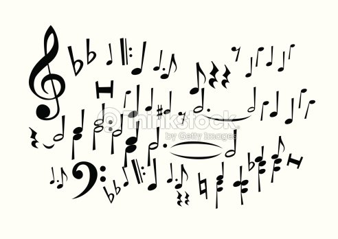 Music notes freehand drawing stock vector thinkstock for Note musicali dwg
