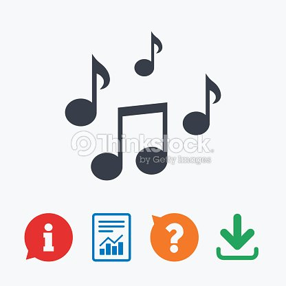 Music Notes Sign Icon Musical Symbol Vector Art Thinkstock