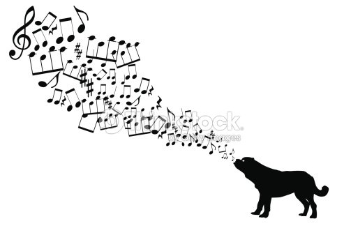 Musique De Notes Prend Son Envol De Chien De La Bouche ...