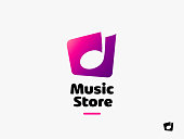 Music Symbol. Sound Melody Note Vector Key Symbol. Music Store Icon concept.