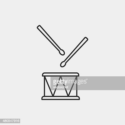 Tambor de iconos de instrumentos musicales : Arte vectorial