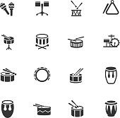 rhythm instruments web icons for user interface design