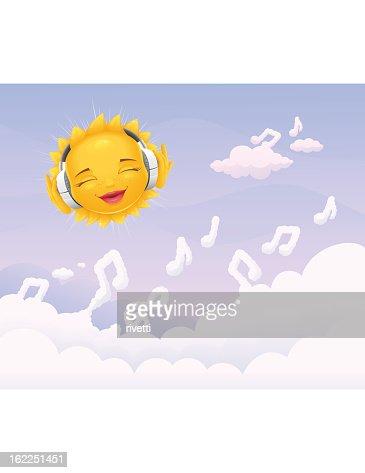 Musical Sun : Vector Art