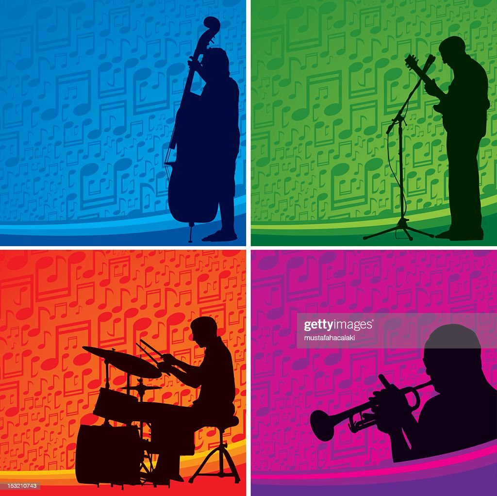 Musicians background : Vector Art