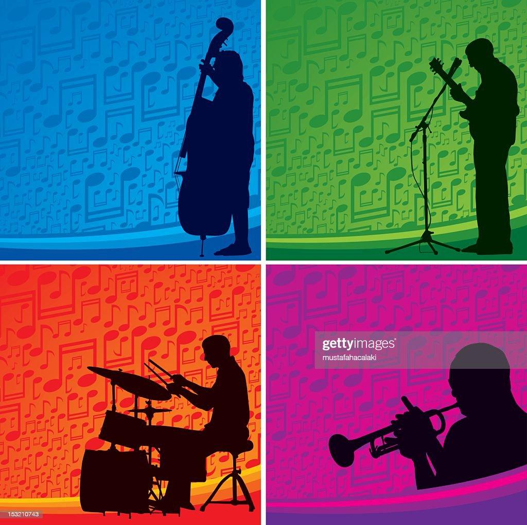 Musiker Hintergrund : Vektorgrafik