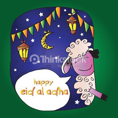 Muslim festival eid al adha invitation card vector art thinkstock muslim festival eid al adha invitation card vector art stopboris Gallery