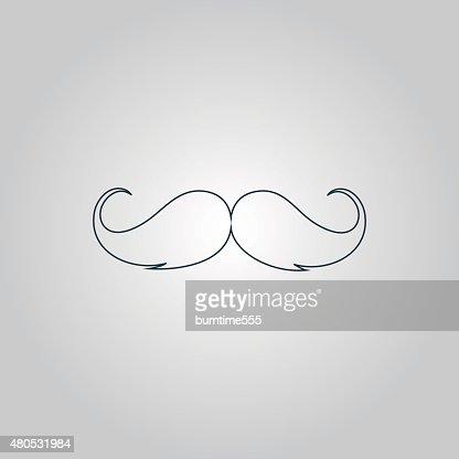 Moustache icône : Clipart vectoriel
