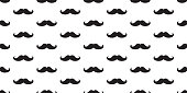 mustache seamless pattern doodle vector wallpaper background