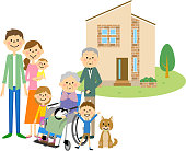 Illustration of my home and my family.