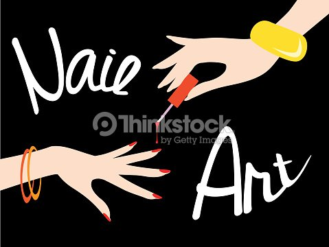 Nail Art Vector Illustration Vector Art Thinkstock