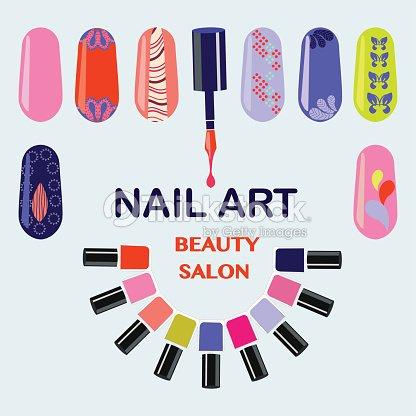 Nails Art Beauty Salon Background Vector Art Thinkstock