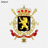 Symbol of Belgium. National emblem
