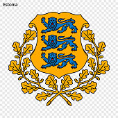 Symbol of Estonia. National emblem