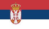 Detailed Illustration National Flag Serbia